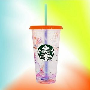 Starbucks Reusable Cold Cups Marble Swirl